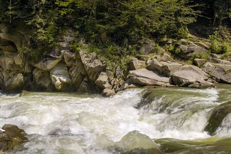 rages: Rapid flow of a mountain river