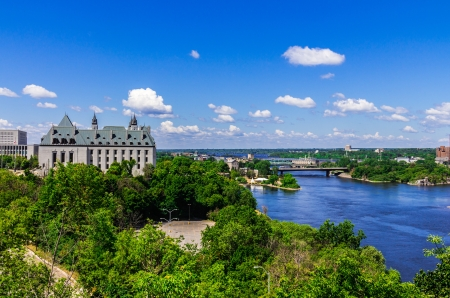 A beautiful view from Parliament Hill, Ottawa, Ontario, Canada
