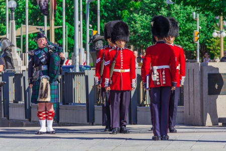 Ceremonial Guard Parade in Ottawa on Parliament Hill, Ontario, Canada