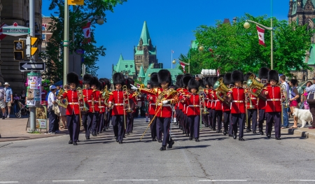 ceremonial: Ceremonial Guard Parade in Ottawa on Parliament Hill, Ontario, Canada