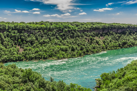 An amazing view of the Niagara river on a sunny beautiful day. Ontario, Canada. photo