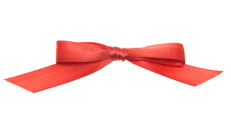 red ribbons isolated on white background photo
