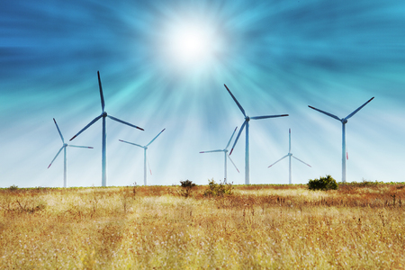 eolian: wind turbines in the field