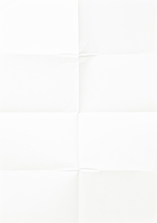 white sheet of paper, folded in eight