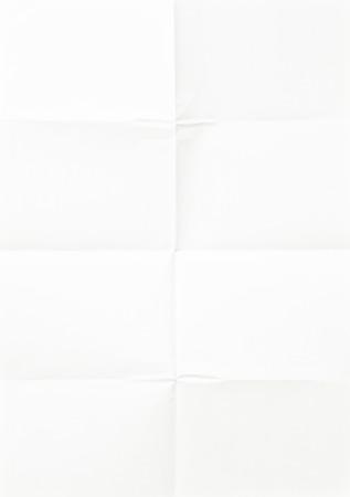 wit vel papier, gevouwen in acht