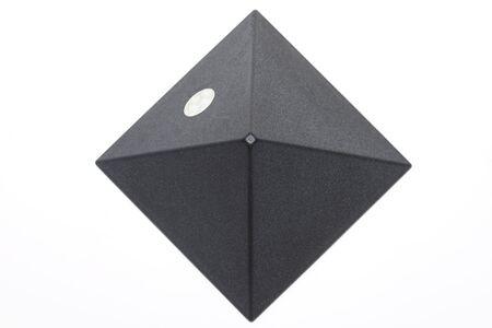 exactness: Darken piramid isolated on white background