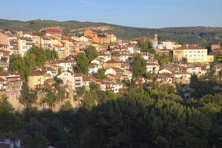 veliko: View from town Veliko Tarnovo in Bulgaria