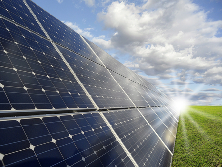 climate change: Power plant using renewable solar energy