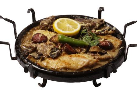 bulgarian: original bulgarian hot plate satch, izolated background Stock Photo