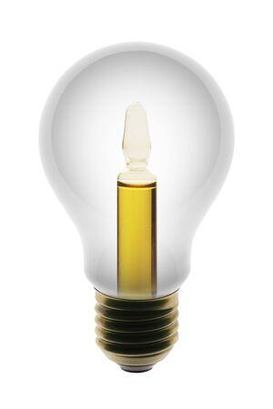 ampule: White lamp with ampule