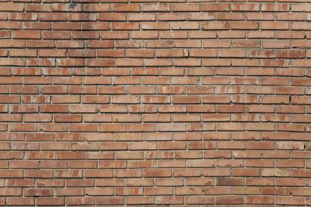 stonemason: Old red brick wall texture front face Stock Photo