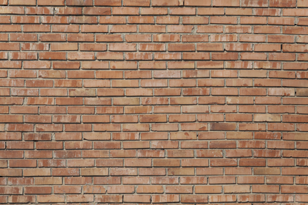 revetment: Old red brick wall texture front face Stock Photo