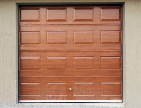 new entry: Homes garage door front shot Stock Photo