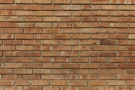 brick texture: Old red brick wall texture front face Stock Photo