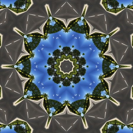 color image: Color image with  generated symetrical rotation Stock Photo