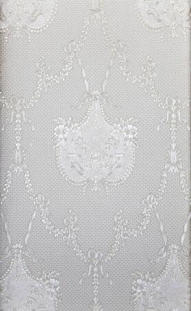 tela blanca: decorative motif in white cloth Foto de archivo