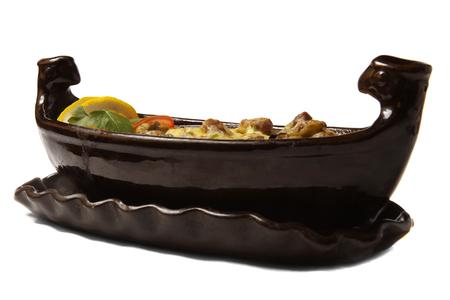 original plate: original bulgarian hot plate satch isolated background
