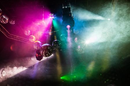 Disco lichtshow, lichten van het stadium met laser