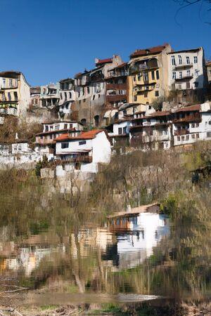 fine weather: Reflection in the water of river Yantra Veliko Tarnovo