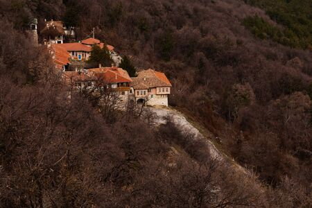 veliko tarnovo: The Transfiguration Monastery near Veliko Tarnovo, Bulgaria