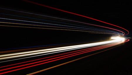 Car light trails in the tunnel. Long exposure photo taken in a tunnel below Veliko Tarnovo Standard-Bild