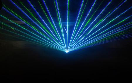 Disco spettacolo di luci, luci di scena con il laser