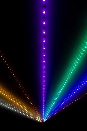 leds: Resumen rayos de luz con el bokeh de LED para el fondo