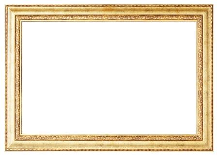 Gouden beeld. Geïsoleerde pad en op een witte achtergrond