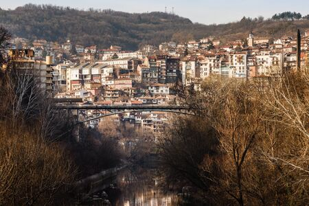 veliko: Stambolov bridge over the Yantra, Veliko Tarnovo, Bulgaria