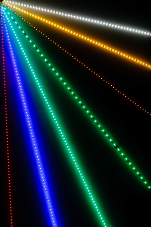 leds: Abstract Light Rays with bokeh from LEDs for background