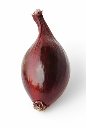 aftertaste: Red onion isolated on white background.