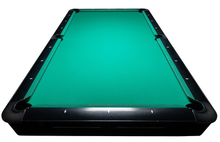 billiards rooms: Table for billiards and ball top view. Isolated white. Clipping path included