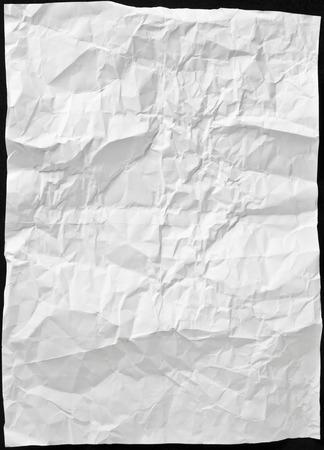 white sheet: white sheet of paper wrinkled Stock Photo