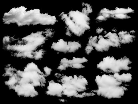 Ensemble de nuages ??isolés plus noir. Les éléments de conception Banque d'images - 50293164