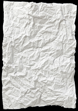 white textured paper: white textured sheet of paper wrinkled