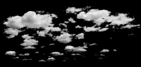 witte wolken over de blauwe hemel. Design elementen