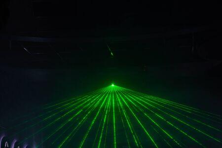 Disco lichtshow, lichten van het stadium met laser Stockfoto