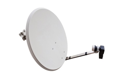 parabolic mirror: satellite dish with the lot of copy space Stock Photo