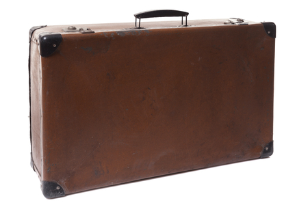 red leather: vintage red leather suitcase