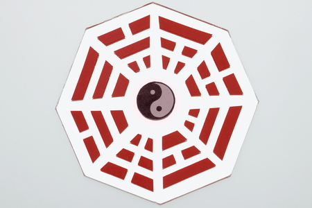 trigram: fengshui  original mirror Stock Photo