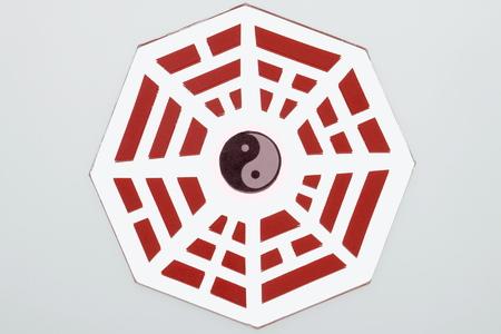 trigram: fengshui  original mirror Stock Photo