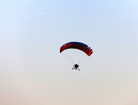 hang glider: hang glider in the sky