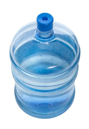 potable: big blue plastic bottle for potable water isolated on a white background and path