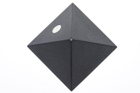Darken piramid on white background