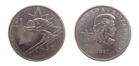 25 cents: Canadian 25 cent