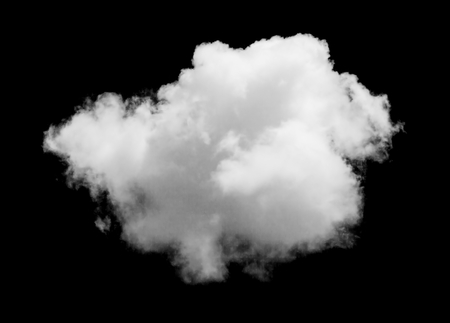 Nuage blanc isolé sur le ciel noir. Éléments de conception Banque d'images - 50313319