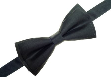 Black bow tie isolated over white background