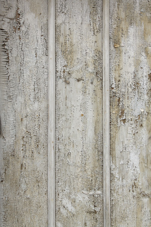 deteriorated: Old cracked  wooden board with paint