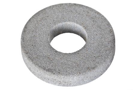 emery: Circular abrasive disk  - emery isolated on white background Stock Photo
