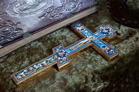 iconography: Eastern Orthodox Cross detail closeup